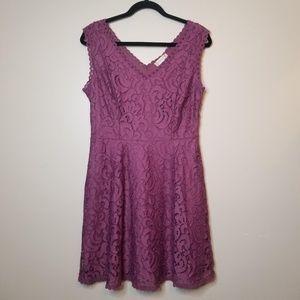 Altar'd State Sz M Plum Purple Sleeveless Dress